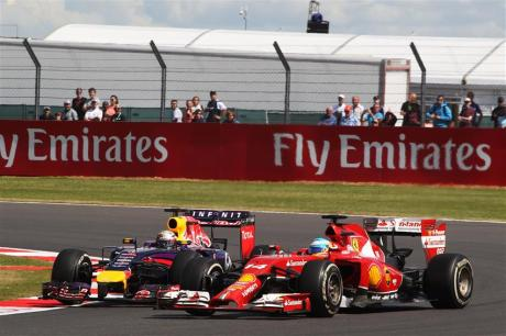 Alonso Vs Vettel - British GP 2014 James Moy Photography