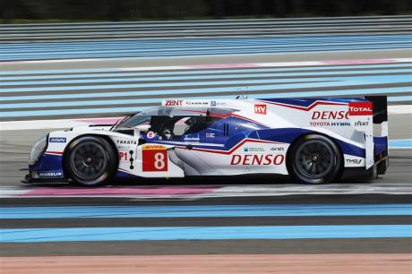 The Toyota TS040, surrounded by Paul Ricard's high abrasion run-off James Moy Photography
